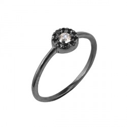 Anell d´or blanc i diamants