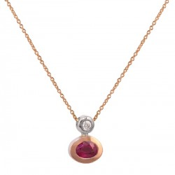 Rose gold ruby diamond pendant
