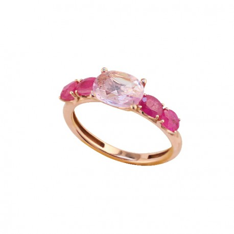Pink Sapphire rose gold ring