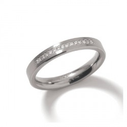 Titanium half band ring
