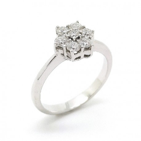 White gold diamonds ring