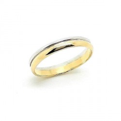 Two-tone gold wedding ring