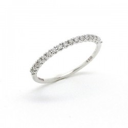 White gold diamond half band ring