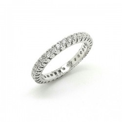 White gold diamond wedding band ring