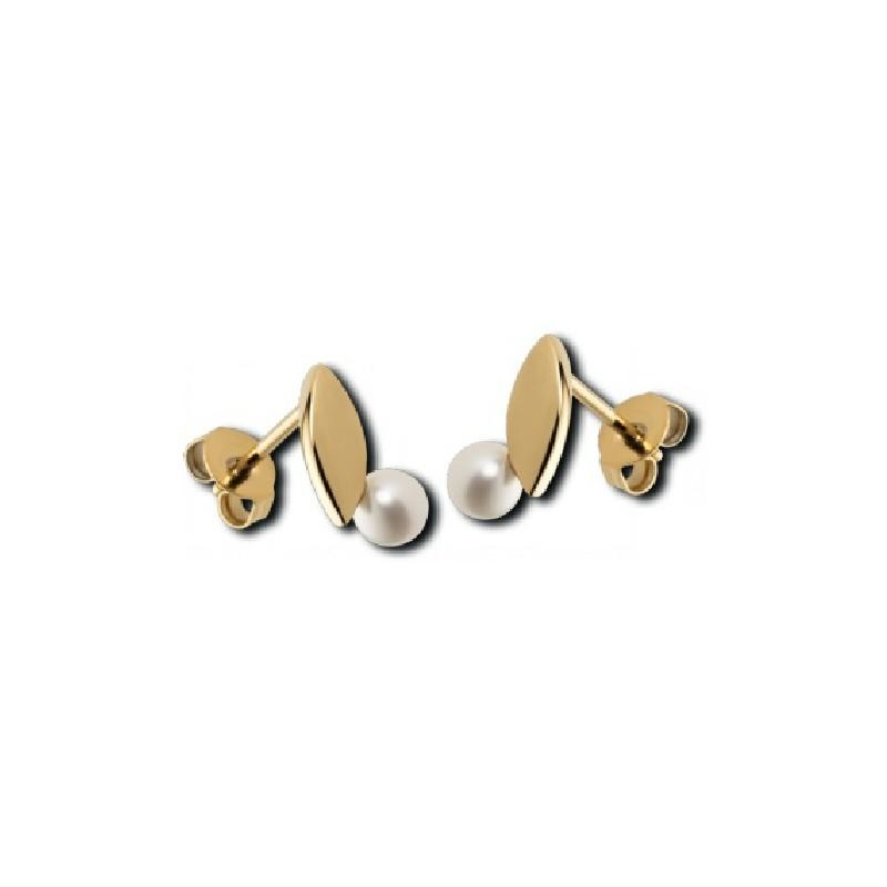 Stainless Steel Pearl Earrings