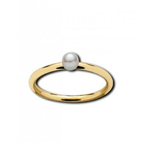Stainless steel pearl ring