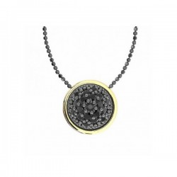 Silver gold spinel pendant