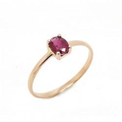 Ruby rose gold ring